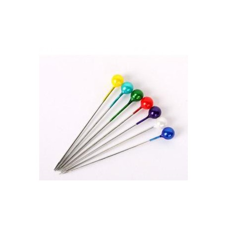 "Pearl Head Pins 1.5"" 500's Color"
