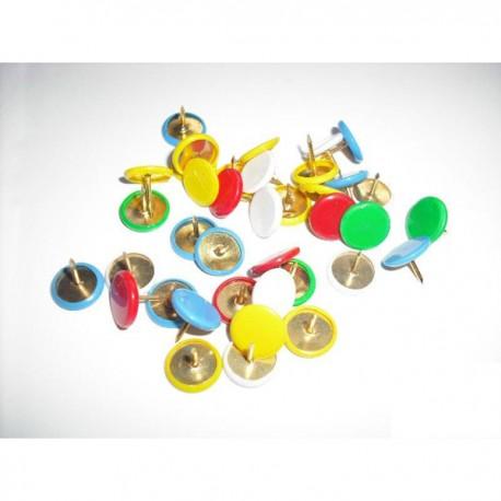 Thumb Tacks Pin 80's Assorted Colors