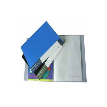 Database FT20 Clear Holder F4 20Pages Black/Blue/Grey