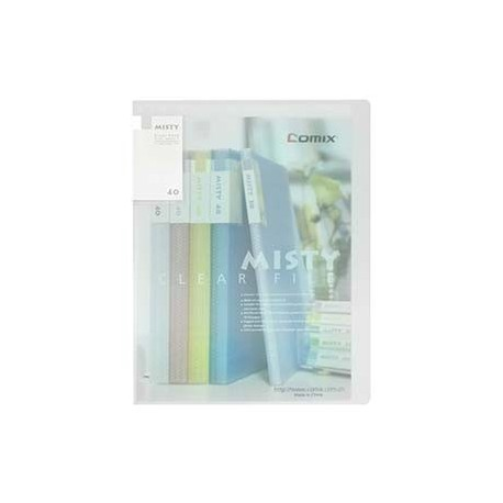 Comix A416 Clear Holder A4 40Pages Matt Clear White