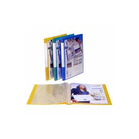 Comix A448 Insert Clear Holder A4 20Pages Yellow