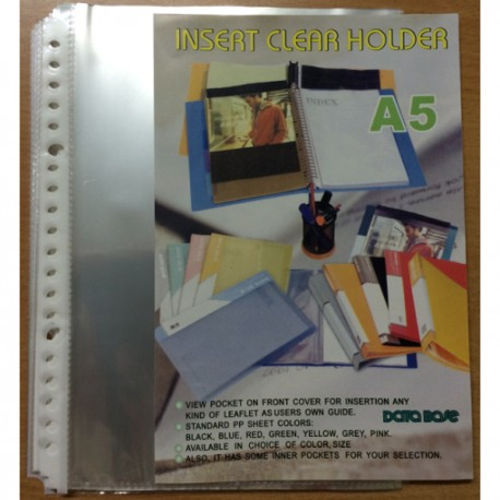 Database RCP2020 Clear Holder Refill A5 20Pages