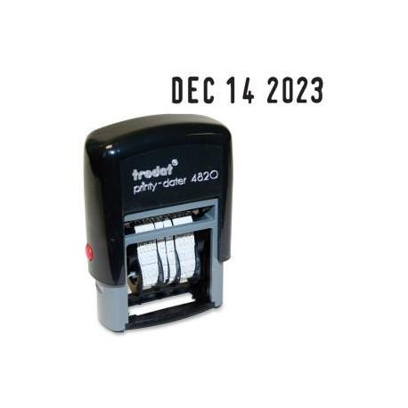 Trodat 4820 自動上墨日子印 4厘米 藍色