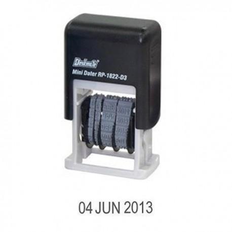 Deskmate RP-1822D3 Self-Inked Date Chop 3mm Black
