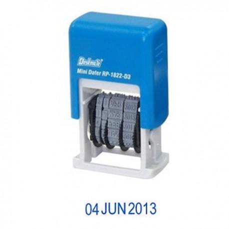 Deskmate RP-1822D3 Mini Dater Pre-Inked Chop 3mm Blue