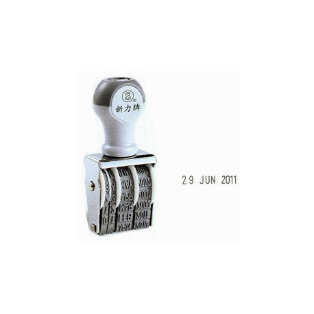 Shiny D4 Date Stamp 4mm