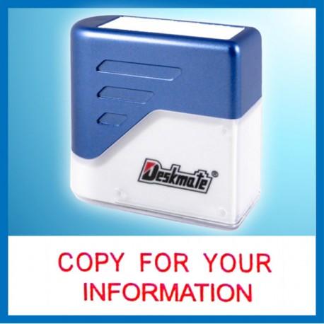 Deskmate KE-C22 COPY FOR YOUR INFORMATION Pre-Inked Chop
