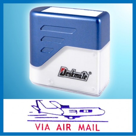 Deskmate KE-A01A VIA AIR MAIL Pre-Inked Chop