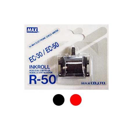 Max EC/R-50 Electronic Checkwriter Ribbon Black/Red