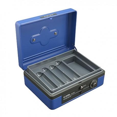 "Carl CB-8200 Double Layers Cash Box w/Keys & Lock 8"""