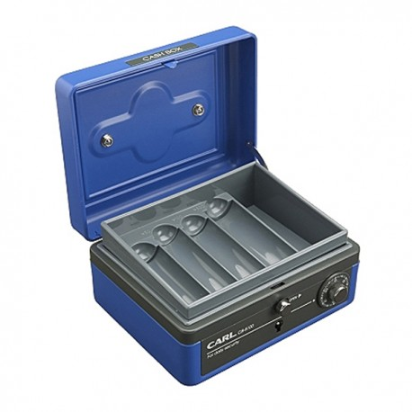 "Carl CB-8100 Double Layers Cash Box w/Keys & Lock 6"""