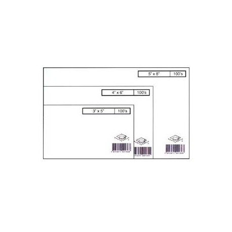 "Data Card Blank 4""x6"" 100Sheets White"