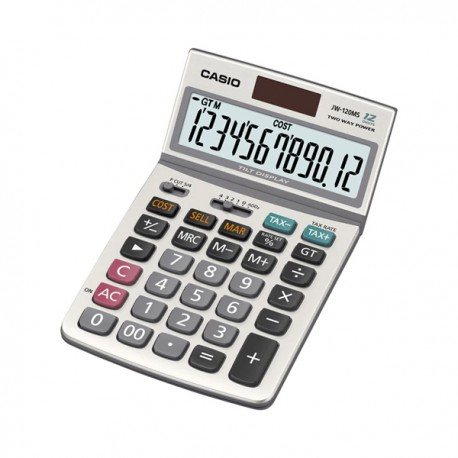 Casio JW-120MS Calculator 12 Digits Display Adjustable