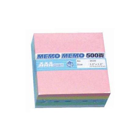 "Memo Sheets 3""x3"" Assorted Colors"