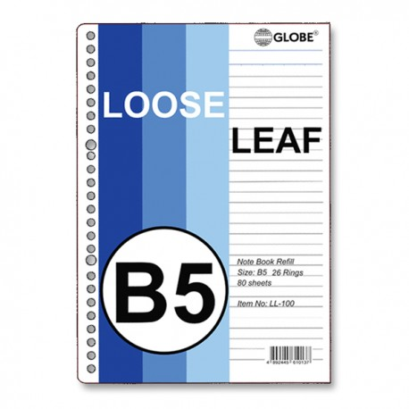 Loose Leaf Paper 26-Hole B5 100Sheets