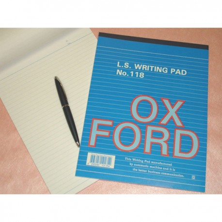 Oxford 118 Writing Pad Single Line Ruled L/S 50Pages