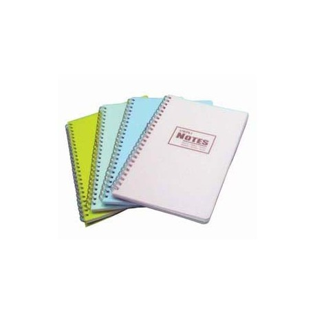 "Wire Ring Note Book w/Plastic Cover 7""x10"""
