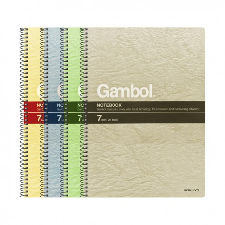 "Gambol S5807 Twins Wire Ring Note Book A5 6""x8"" 80Pages"