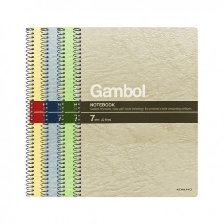 "Gambol S6807 Twins Wire Ring Note Book B5 7""x10"" 80Pages"