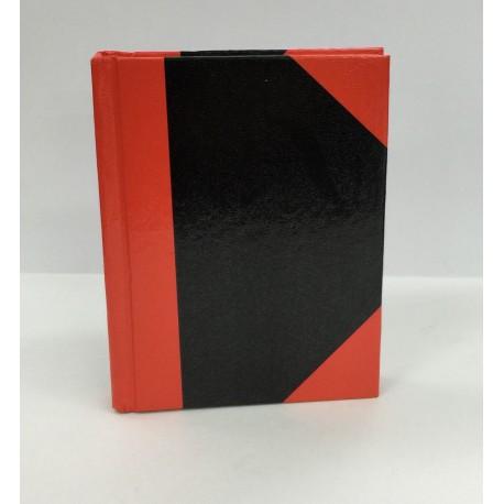 紅黑硬皮簿 3吋x4吋 100頁