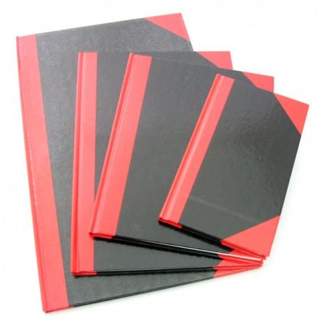紅黑硬皮簿 4吋x6吋 100頁