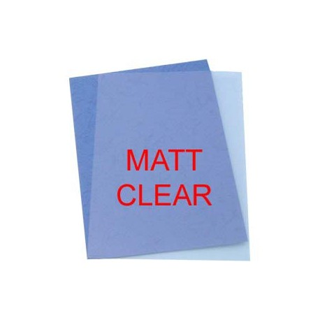 Plastic Binding Cover A4 0.4mm 100Sheets Matt Clear