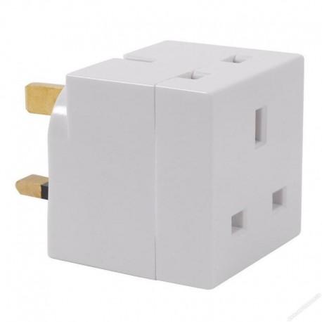 Three Pin Plug 13A Fused Adaptor