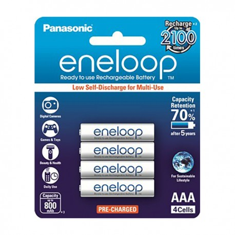 Panasonic Eneloop Rechargeable Battery 3A 800mAh 4's
