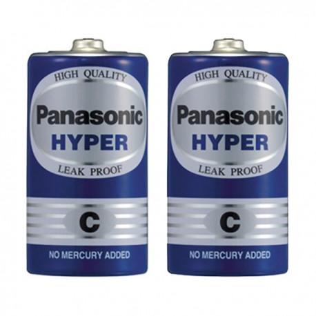 樂聲牌 Hyper 碳性電池 C 2粒