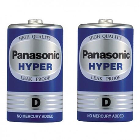 樂聲牌 Hyper 碳性電池 D 2粒
