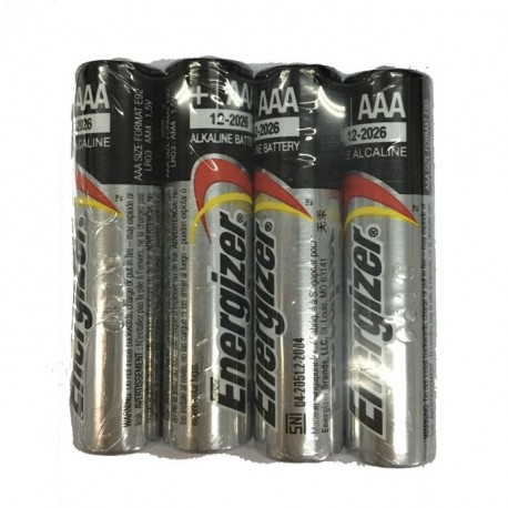 Energizer Alkaline Battery 3A 4's Shrink Plastic Bag