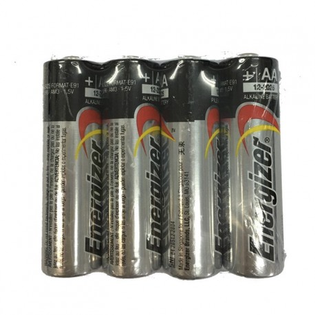 Energizer Alkaline Battery 2A 4's Shrink Plastic Bag