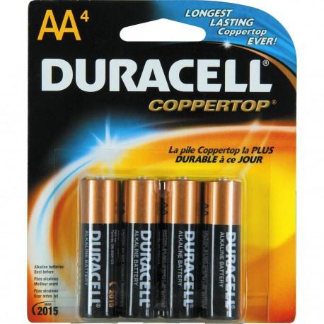 Duracell Alkaline Battery 2A 4's