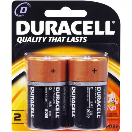 Duracell Alkaline Battery D 2pcs