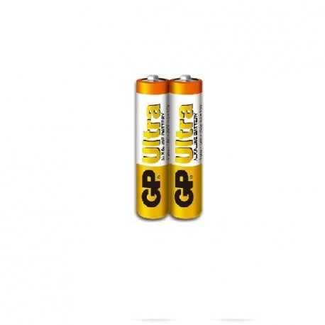 GP Ultra Alkaline Battery 3A 2's Shrink Plastic Bag
