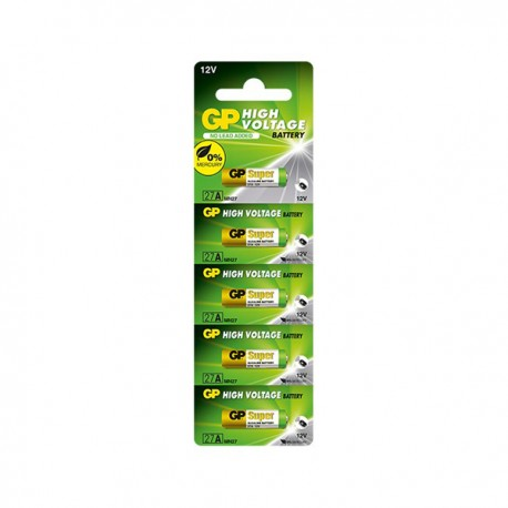 GP 23AE Ultra Alkaline Battery High Voltage 12V 5's