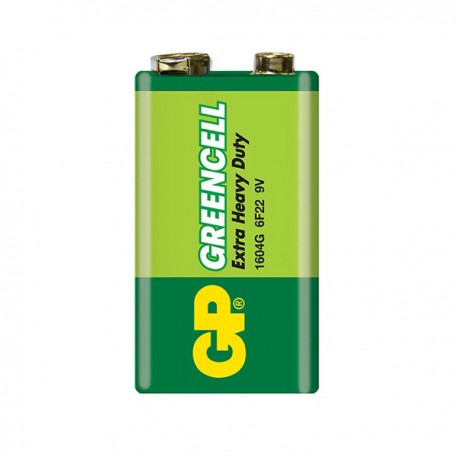 GP Greencell Battery 9V Shrink Plastic Bag