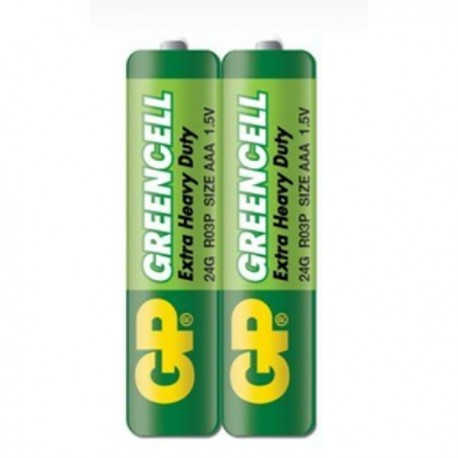 GP Greencell Battery 3A 2's Shrink Plastic Bag