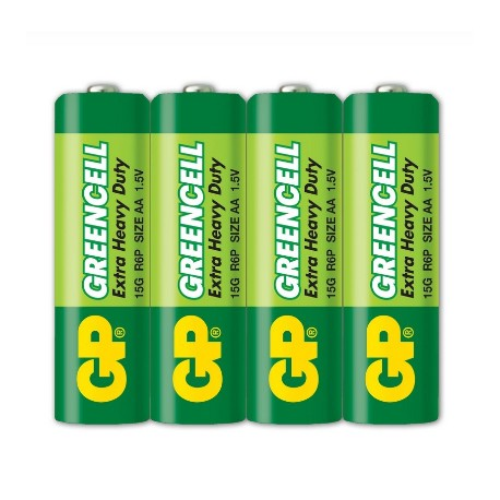 GP Greencell Battery 2A 4's Shrink Plastic Bag