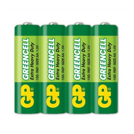 GP Greencell Battery 2A 4pcs Shrink Plastic Bag