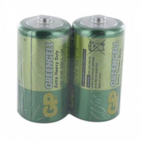 GP Greencell Battery C 2pcs Shrink Plastic Bag