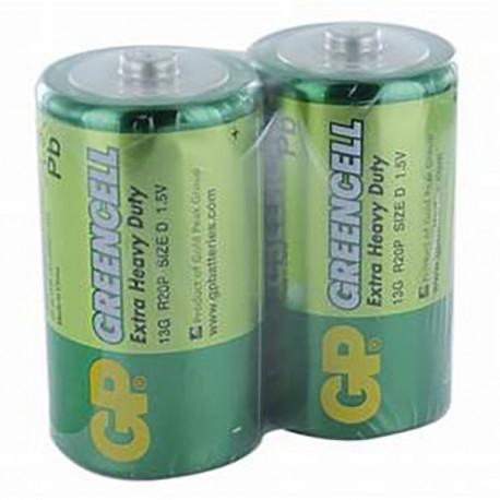 GP Greencell Battery D 2pcs Shrink Plastic Bag