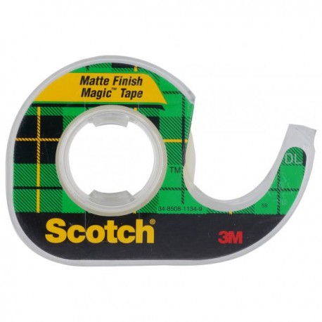"3M Scotch 105 Magic Tape w/Dispenser 3/4""(19mm)x8.3yds"