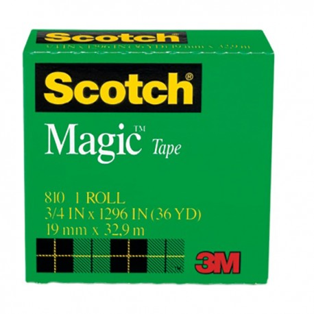 3M Scotch 810 Magic Tape 3/4''(19mm)x36yds