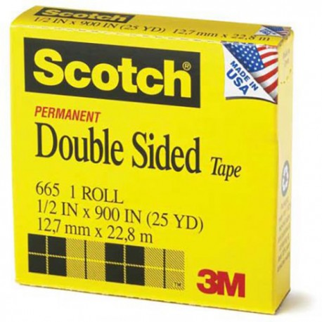 "3M Scotch 665 Double Side Tape 1/2""(12mm)x25yds"