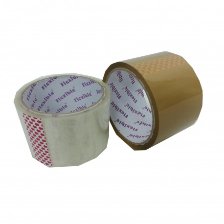 "Purple Flexible OPP Packing Tape Thick 2.5""x25yds Clear"