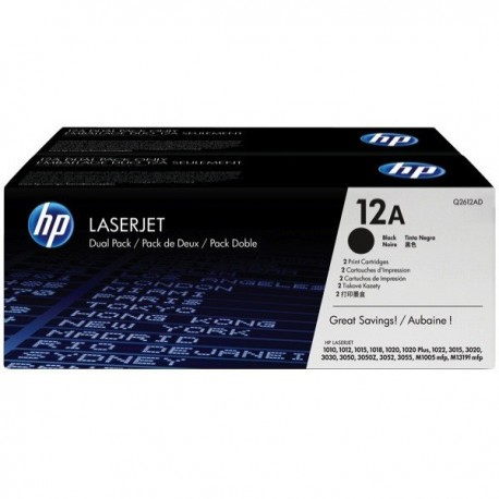HP Q2612AD 12A Toner Cartridge Dual Pack Black