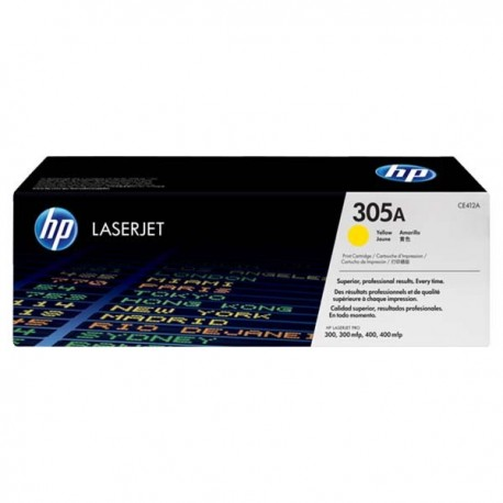 HP CE412A 305A Toner Cartridge Yellow