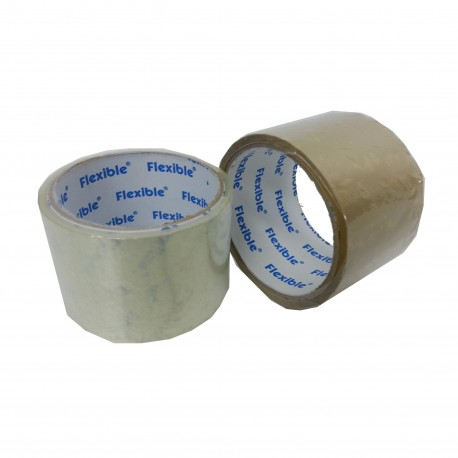 "Blue Flexible OPP Packing Tape 2.5""x25yds Clear"