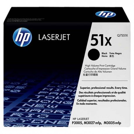 HP Q7551X 51X Toner Cartridge Black